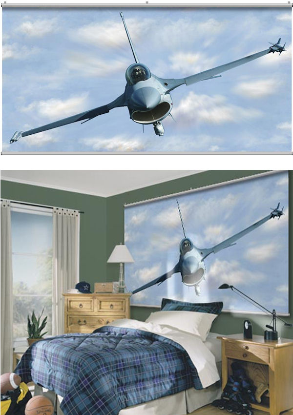 F16 Falcon Minute Mural - Wall Sticker Outlet