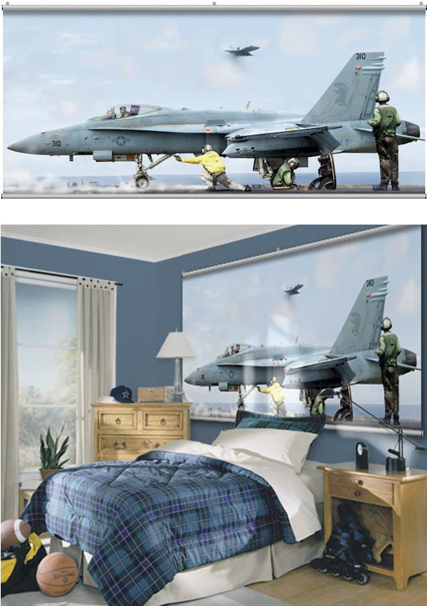 F18 Hornet Launch Minute Mural - Wall Sticker Outlet
