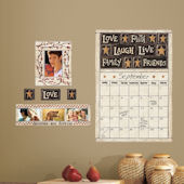 Family and Friends Dry Erase Calendar Wall Decals