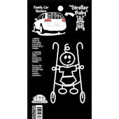 Baby in Stroller Family Car Sticker