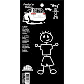 Boy Family Car Sticker