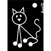Cat Family Car Sticker