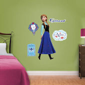 Fathead Frozen Anna Jr Wall Decal