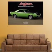 Fathead 1970 Plymouth Cuda AAR  Wall Graphic