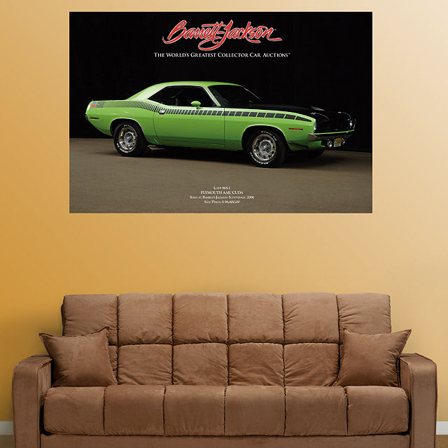 Fathead 1970 Plymouth Cuda AAR  Wall Graphic - Wall Sticker Outlet