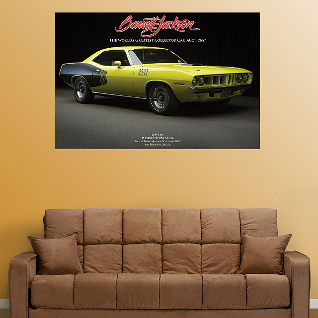 Fathead 1971 Plymouth Hemi Cuda Wall Graphic - Wall Sticker Outlet