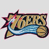 Fathead  Philadelphia 76ers Logo Wall Graphic