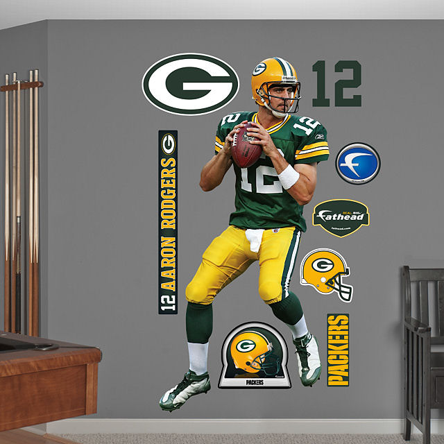 Good Fathead Aaron Rodgers Home Green Bay Packers   Wall Sticker Outlet Part 11