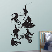 Fathead Action Sports Silhouette Wall Graphic