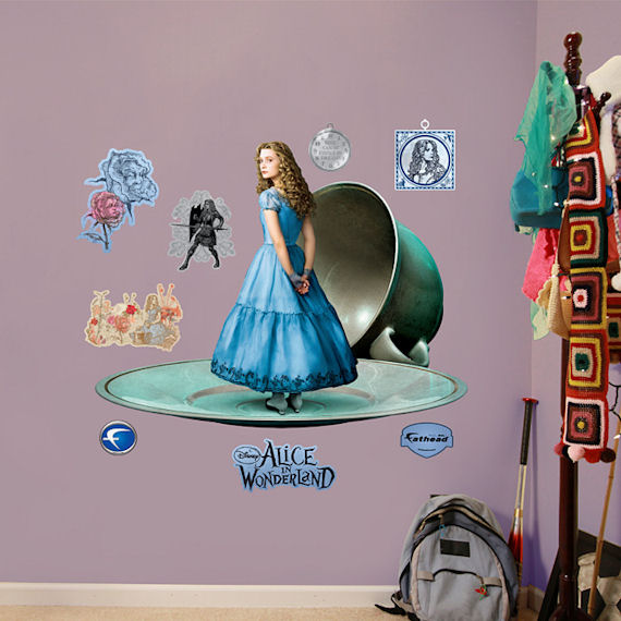 alice in wonderland fathead wall sticker. Black Bedroom Furniture Sets. Home Design Ideas