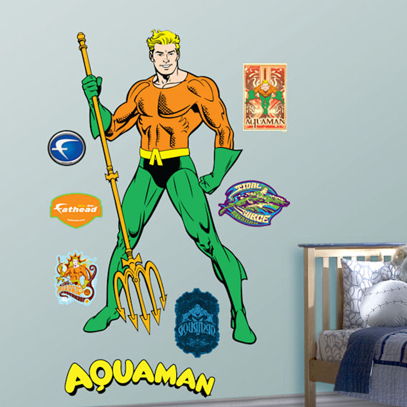 Fathead Aquaman Wall Sticker - Wall Sticker Outlet