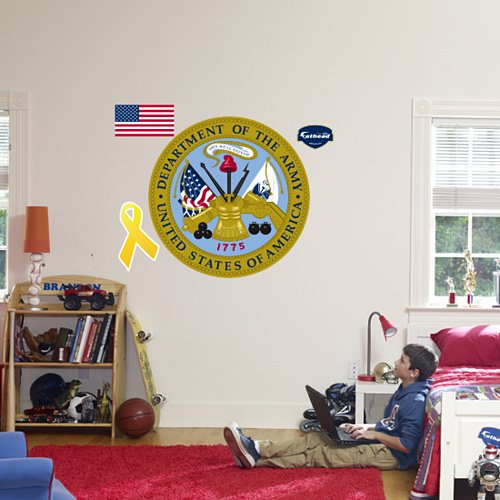 Fathead United States Army Military Insignia  - Kids Wall Decor Store