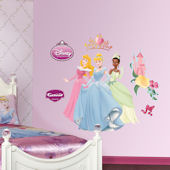 Disney Aurora Cinderella and Tiana Wall Sticker