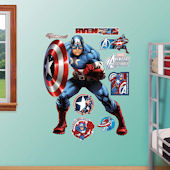 Fathead Avengers Captain America Wall Graphic