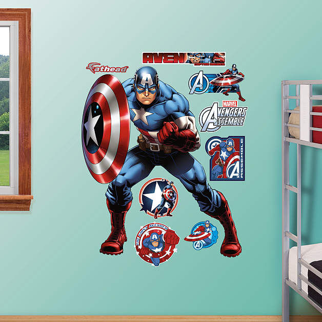 Fathead Avengers Captain America Wall Graphic - Wall Sticker Outlet