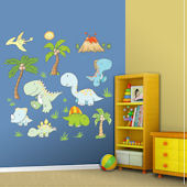 Fathead Baby Dinosaurs Peel and Stick Wall Sticker