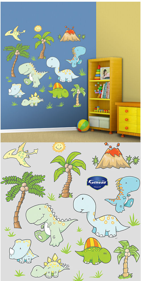 Fathead Baby Dinosaurs Peel and Stick Wall Sticker - Wall Sticker Outlet