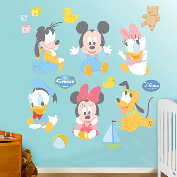 Disney Baby Mickey and Friends Wall Sticker - Wall Sticker Outlet