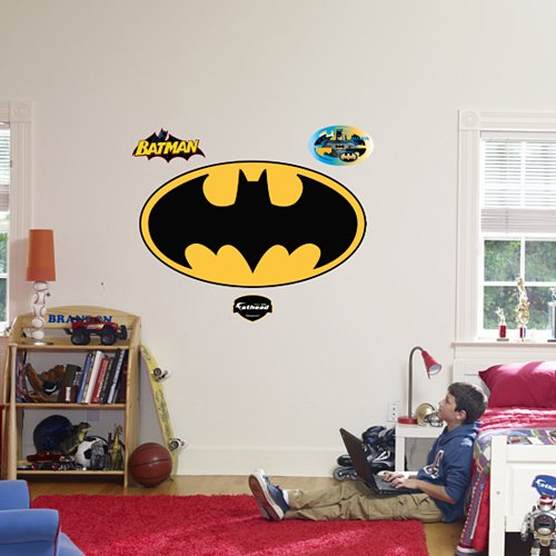 Fathead Batman Logo Peel and Stick Wall Graphic - Kids Wall Decor Store