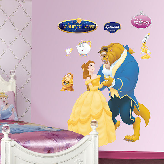Disney Beauty and The Beast Wall Sticker - Wall Sticker Outlet