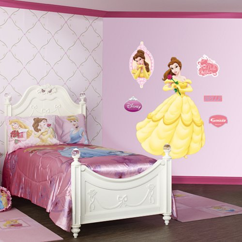 Fathead Disney Princess Belle Wall Graphic - Wall Sticker Outlet