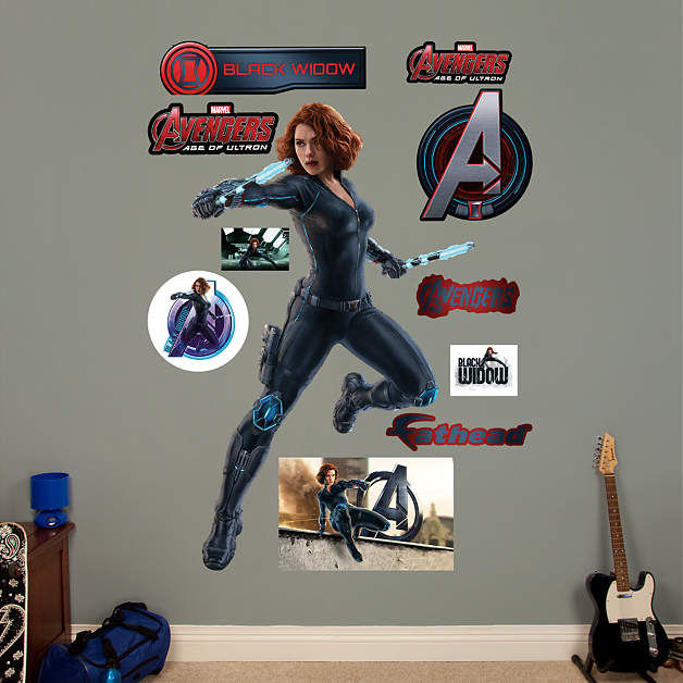 Fathead Avengers Age of Ultron Black Widow - Wall Sticker Outlet