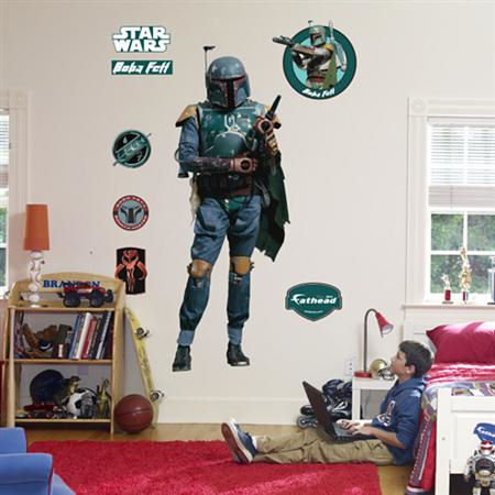 Fathead Boba Fett Live Action Wall Graphic - Wall Sticker Outlet