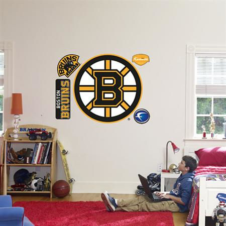 Fathead boston bruins logo wall graphics kids wall decor Bruins room decor