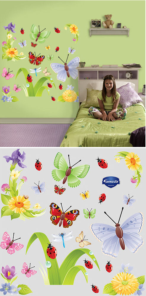 Fathead Butterflies Peel and Stick Wall Sticker - Wall Sticker Outlet
