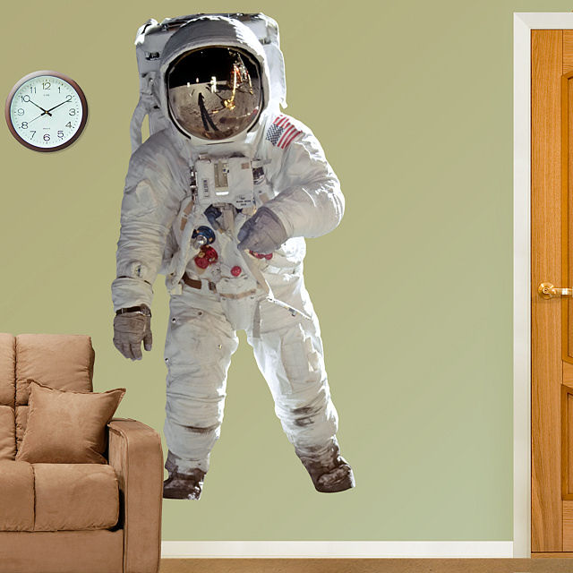 Fathead Buzz Aldrin Astronaut Wall Graphic - Wall Sticker Outlet