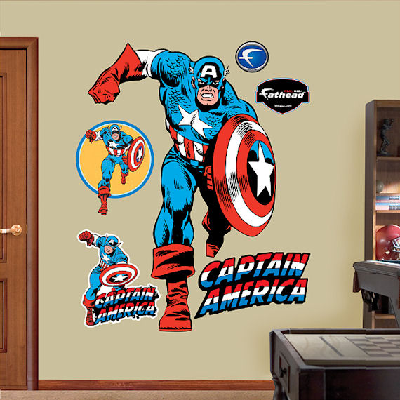 Captain America Fathead Wall Sticker - Wall Sticker Outlet