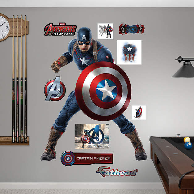Fathead Avengers Age of Ultron Captain America  - Wall Sticker Outlet