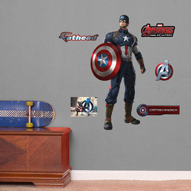 Fathead Avengers Age of Ultron Captain America Jr - Wall Sticker Outlet