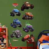 Fathead Disney Cars Monster Truck Collection Decal