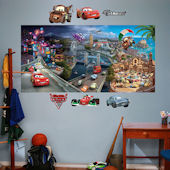 Fathead Disney World of Cars 2 Mural