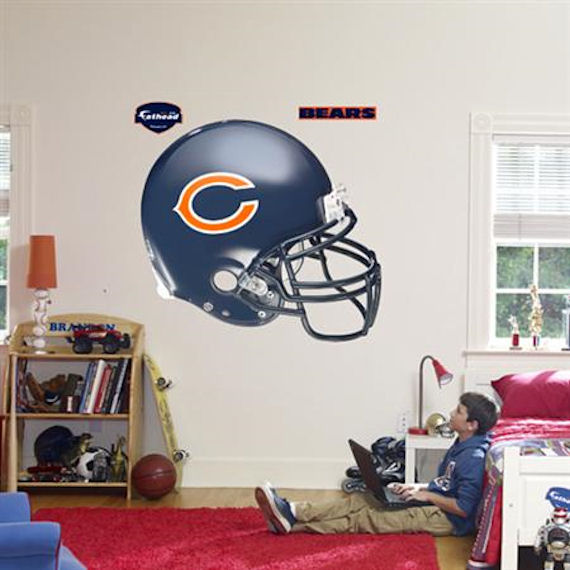 Fathead Chicago Bears Helmet Real Big Mural - Wall Sticker Outlet
