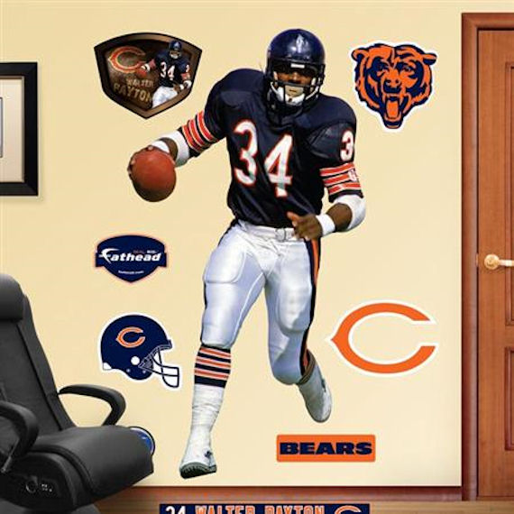 Fathead Chicago Bears Walter Payton Real Big Mural   Wall Sticker Outlet Part 84