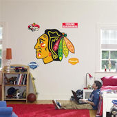 Fathead Chicago Blackhawks Logo Wall Graphics