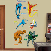 Classic Fantastic Four Fathead Wall Sticker
