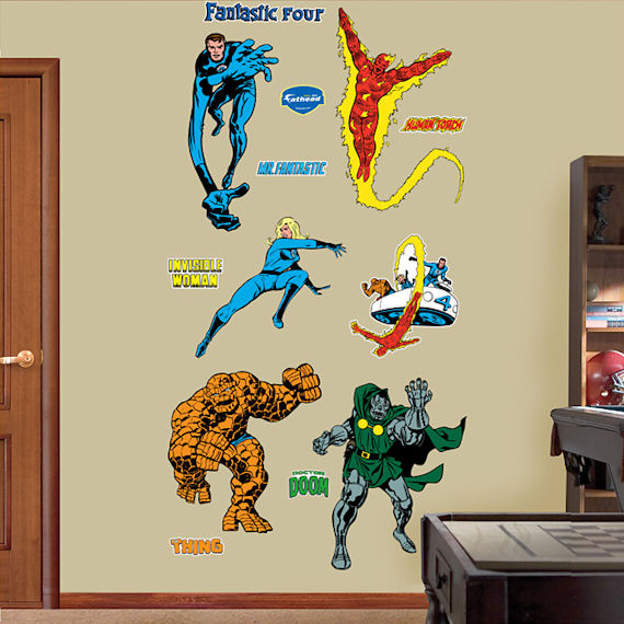 Classic Fantastic Four Fathead Wall Sticker - Wall Sticker Outlet