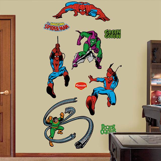 Classic Spiderman Fathead Wall Sticker - Wall Sticker Outlet