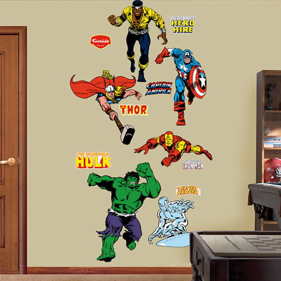 Classic Superheroes Fathead Wall Sticker
