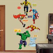 Fathead Classic Superheros Collection Wall Graphic