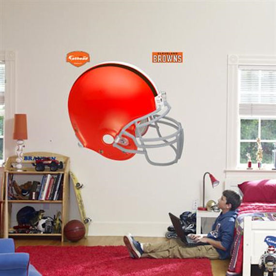 Fathead Cleveland Browns Helmet Real Big Mural - Wall Sticker Outlet