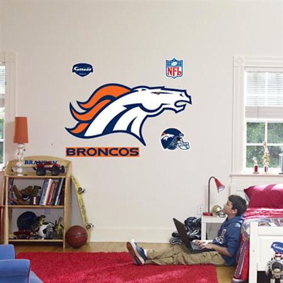 Fathead Denver Broncos Logo Real Big Mural - Wall Sticker Outlet