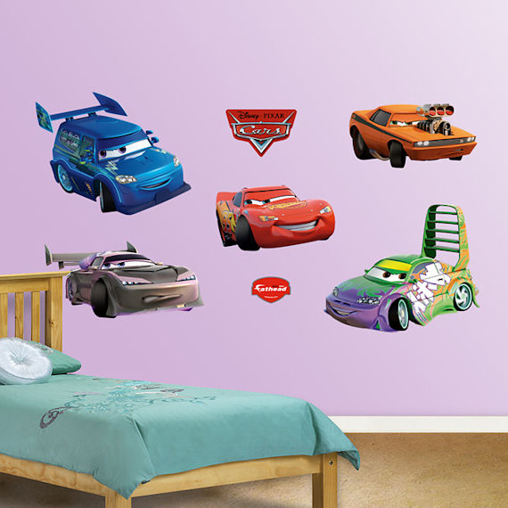 Disney cars wall decals disney pixar 39 s cars wall decals for Cars wall mural sticker