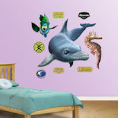 Fathead Dolphin Peel and Stick Wall Graphic