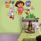 Dora Backpack and Boots Fathead Decals