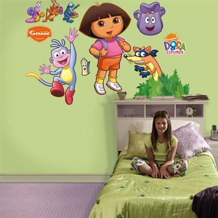 Dora Backpack and Boots Fathead Decals - Wall Sticker Outlet