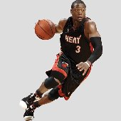 Fathead Miami Heat Dwyane Wade Drives Wall Graphic
